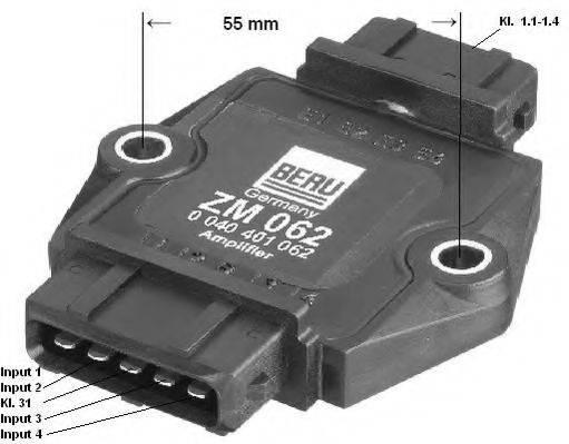 Коммутатор системы зажигания BERU ZM062