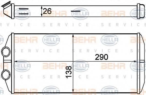 Радиатор отопителя HELLA 8FH 351 000-631