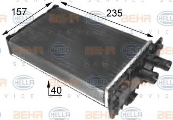 Радиатор отопителя HELLA 8FH 351 024-431